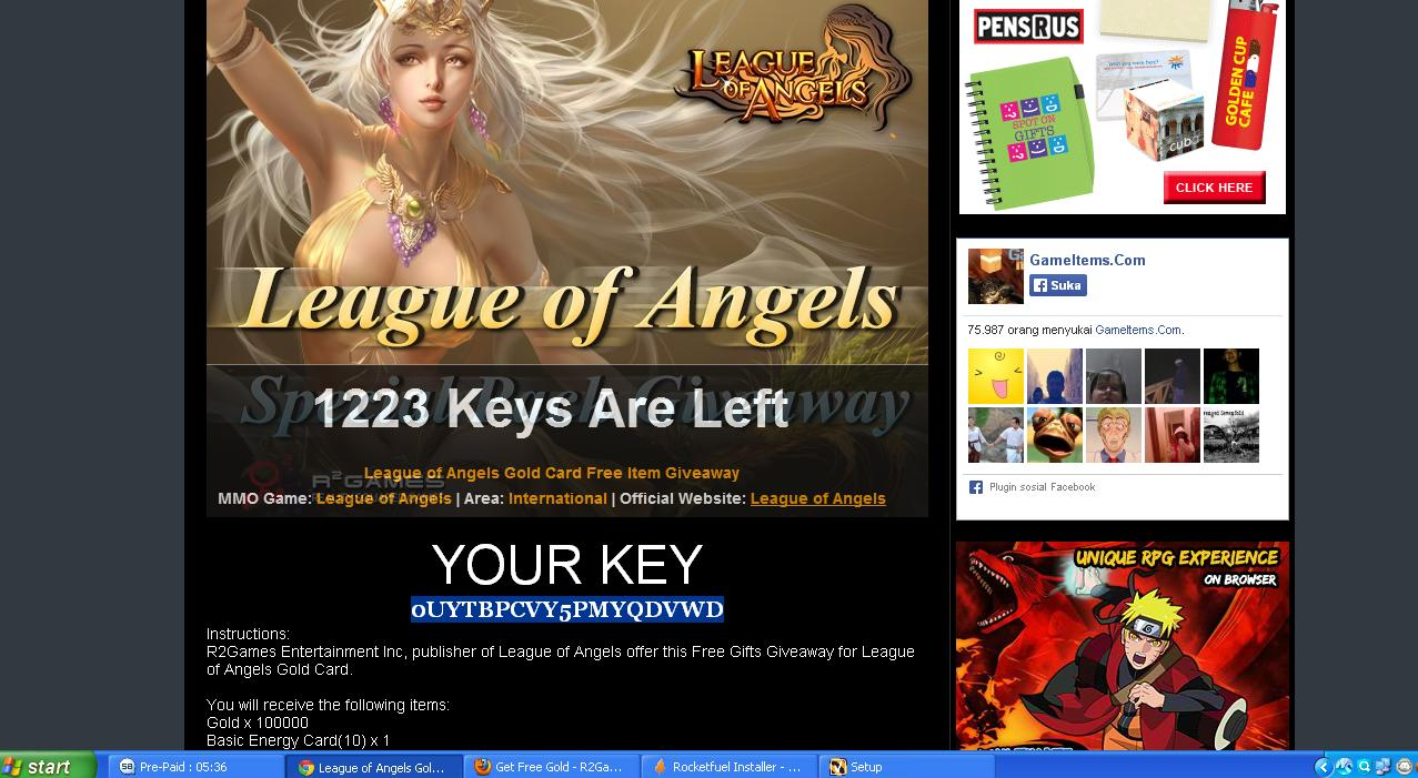 Giveaway] League of Angels Special Packs - Reality Squared