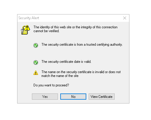 Certificate Errors - Reality Squared Games Forum