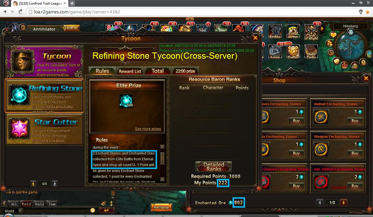 Tycoon Enchanting Stones From Shop - Reality Squared Games Forum