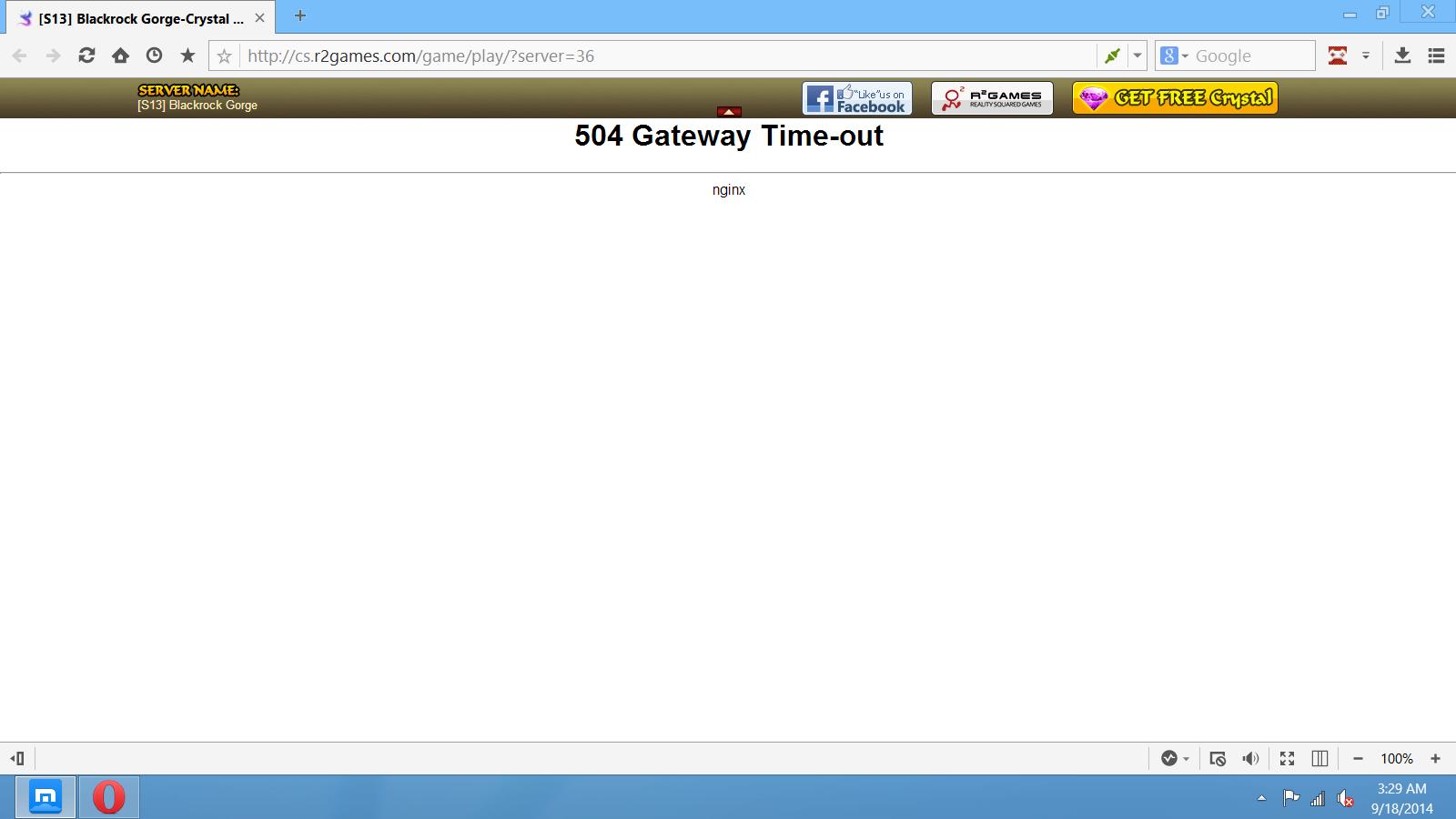 504 Gateway Time-Out