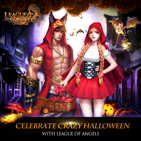 dress up little red fashion in crazy halloween - Halloween Fashion Games