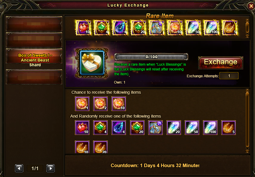 Box of Sweets I - Ancient Beast Shard Issue - Reality