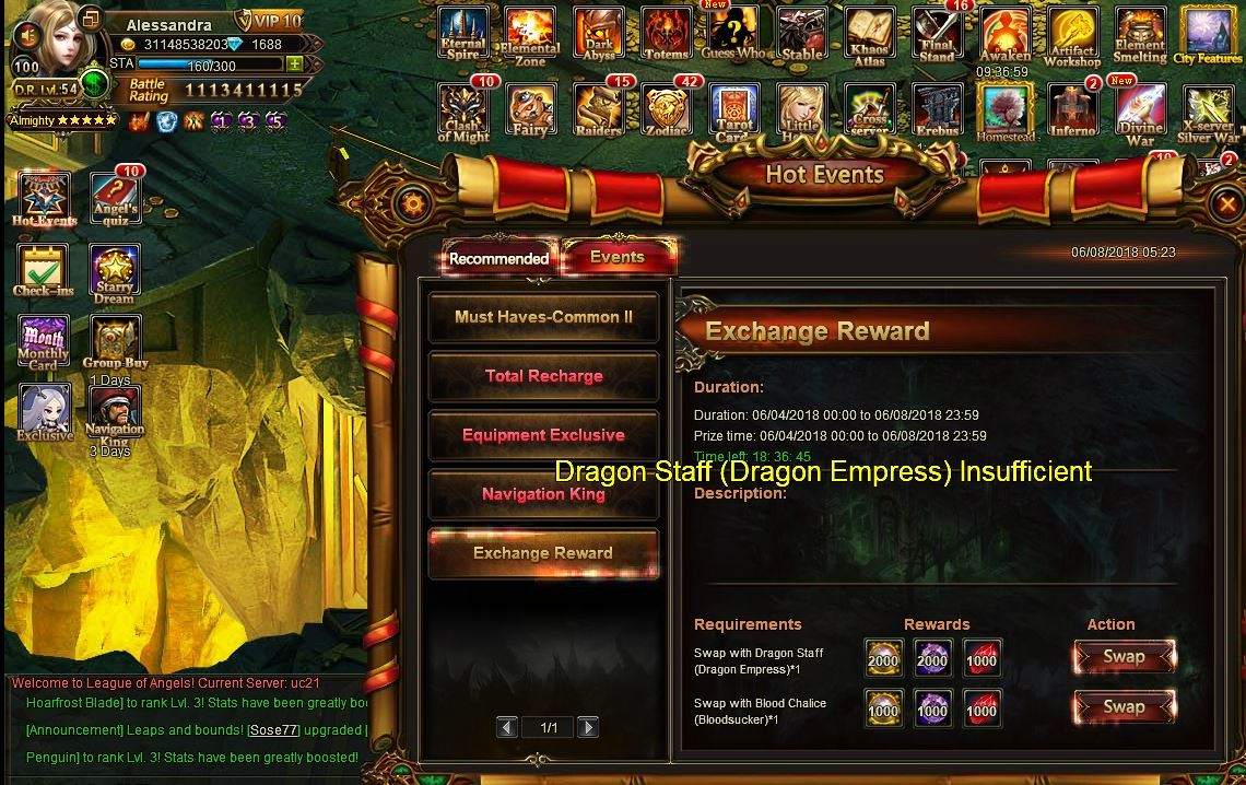 Dragon Staff insufficient ???